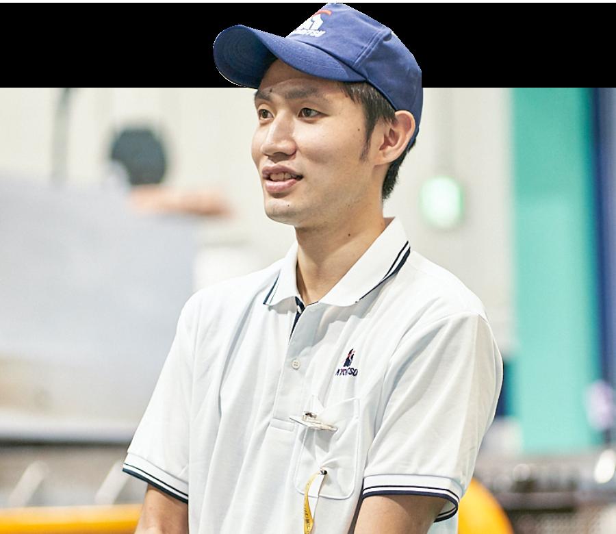 共立従業員の笑顔